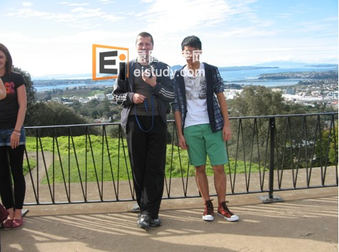 A sightseeing  trip out to Mt Eden with my homestay family